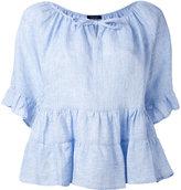 Roberto Collina peplum blouse - women - Linen/Flax - S