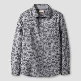 Cat & Jack Boys' Dino Print Long Sleeve Button Down Shirt Cat & Jack - Gray
