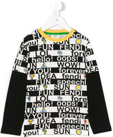 Fendi graphic print sweatshirt - kids - Cotton/Spandex/Elastane - 4 yrs