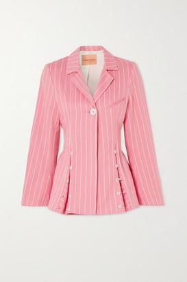 Maggie Marilyn Net Sustain Follow Your Heart Pinstriped Organic-cotton Twill Blazer - Pink