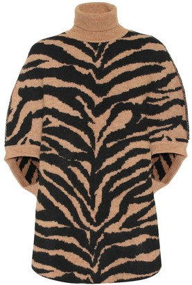MM6 MAISON MARGIELA Zebra-jacquard turtleneck sweater