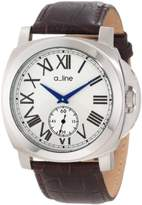 A Line A _ LINE Women's 80007/BR Pyar Silver Textured Dial Brown Leather Watch
