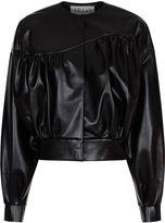 Awake Black Faux Leather Cropped Jacket
