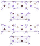 JoJo Designs Sweet Mod Dots Purple Collection Crib Bumper