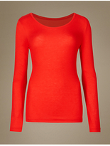 M&S Collection HeatgenTM Ribbed Thermal Long Sleeve Top