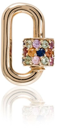 Marla Aaron 14kt Yellow Gold And Sapphire Chubby Baby Lock Charm