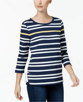 Charter Club Striped High-Low Top, Created for Macy's