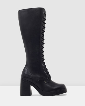 ROC Boots Australia - Women's Black Knee-High Boots - Indiana - Size One Size, 37 at The Iconic