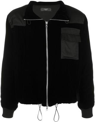 Amiri velvet Commando patch jacket