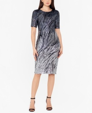 Betsy & Adam Ombre Sparkle Bodycon Dress