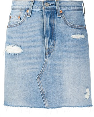 Levi's Distressed Denim Skirt