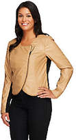 Lisa Rinna Collection Cropped Faux LeatherJacket