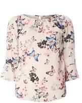 **Billie & Blossom Blush Butterfly Print Blouse