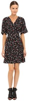 The Kooples Mix Flowers On Silk Crepe De Chine Dress Women's Dress