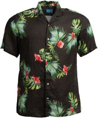 Panareha Honolulu Linen Aloha Shirt Black