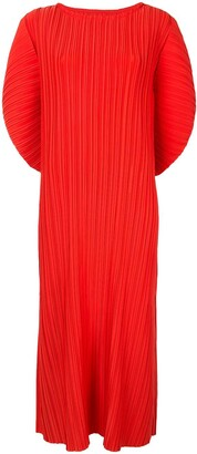 Bambah Pleated Batwing Sleeve Dress