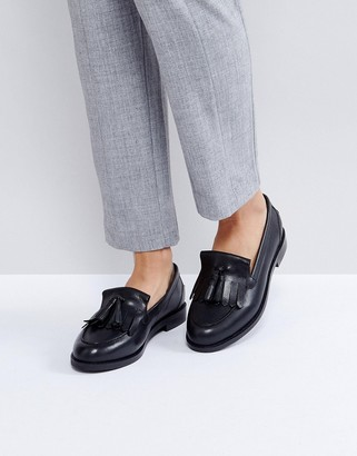 Asos Design MAXWELL Leather Loafers-Black