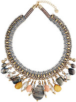 Nakamol Beaded Stone Statement Bib Necklace, Multi