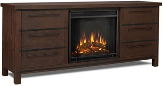 Pottery Barn Real Flame Parsons Electric Fireplace Media Cabinet