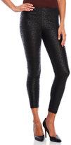 Jessica Simpson Black Lacey Leatherette Leggings