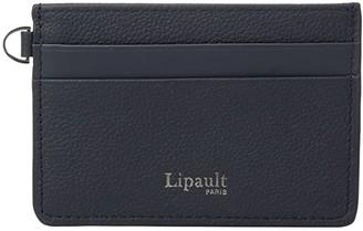 Lipault Paris Plume Elegance Leather Card Holder (Black) Credit card Wallet
