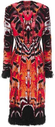 Alexander McQueen Frayed Jacquard Coat