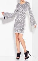 Herve Leger Skyler Diagonal Multicolored Macrame Dress