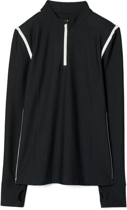 Tory Sport Reflective Stripe Mesh Half Zip Pullover