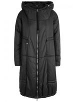 Crea Concept Black Panelled Shell Coat