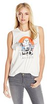 True Religion Women's Distressed Buddha Muscle Tee