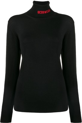 GCDS rollneck logo knit sweater