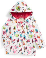 Hatley Girl's Tropical Birds Hooded Raincoat