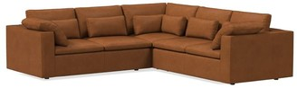 west elm Harmony Modular Leather 3-Piece L-Shaped Sectional
