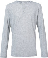 Onia Miles henley - men - Linen/Flax/Polyester - S