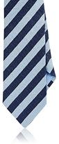 Luciano Barbera MEN'S STRIPED LINEN-BLEND NECKTIE
