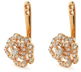 Lc Collection Jewellery Diamond 18k rose gold floral earring jackets
