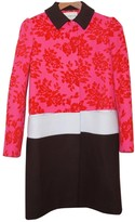 Mary Katrantzou Pink Wool Coat for Women