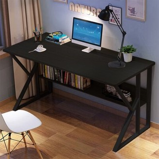 Inbox Zero Simpleness Home Desk Color: Black
