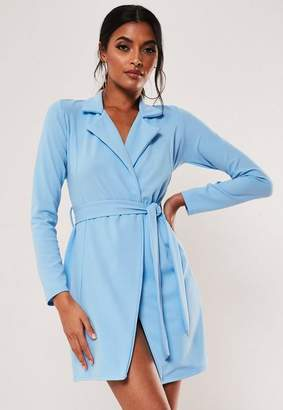 Missguided Fitted Jersey Belted Stretch Wrap Dress