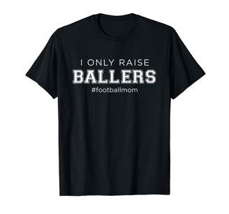 Coach Proud Parent Athletic Gear And Apparel Fun I Only Raise Ballers Mom Football Sporting Gift T-Shirt