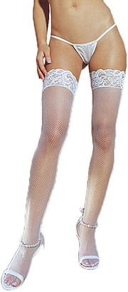 Dreamgirl Fishnet Back Seam Thigh Highs