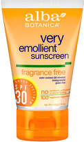 Alba Sun Block SPF 30 by 4oz Sunblock)