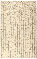 Solo Rugs Moroccan Area Rug - Beige Bricks, 5'1 x 7'8