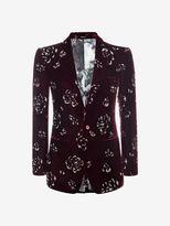 Alexander McQueen Floral Velvet Jacket