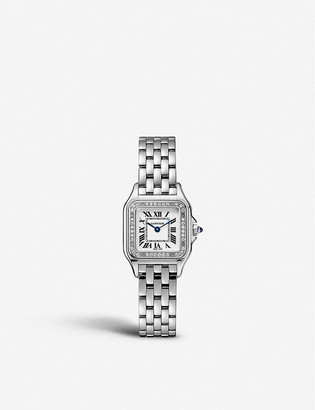 Cartier W4PN0007 Panthere de stainless steel and diamond watch