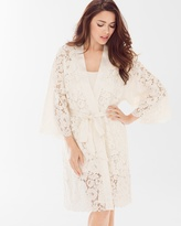 Soma Intimates Allover Lace Robe Ivory