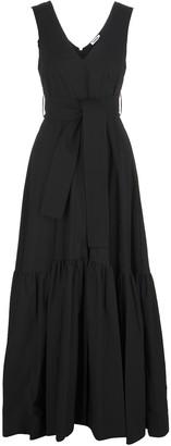 P.A.R.O.S.H. Black Canyon Woman Long Dress With V-neck