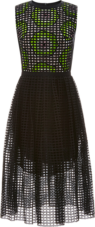 Carven Broderie Anglaise Cotton Dress