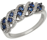 Lord & Taylor Sapphire, Diamond and 14K White Gold Riing