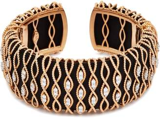 Roberto Coin 'Barocco' diamond 18k rose gold cuff